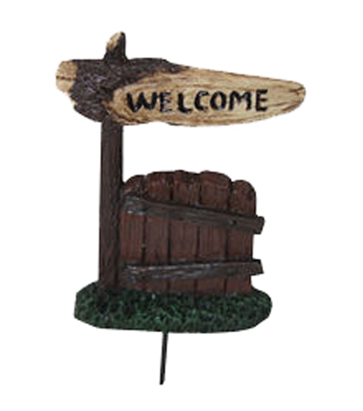 Fairy Garden Welcome Fence Pick
