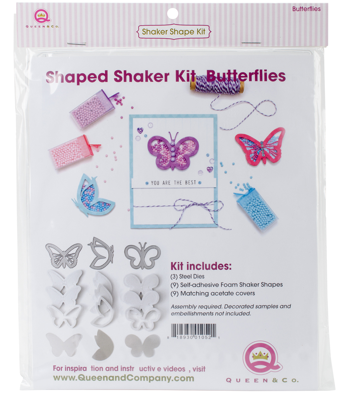 Queen & Company Shaker Shape Kit-Butterflies