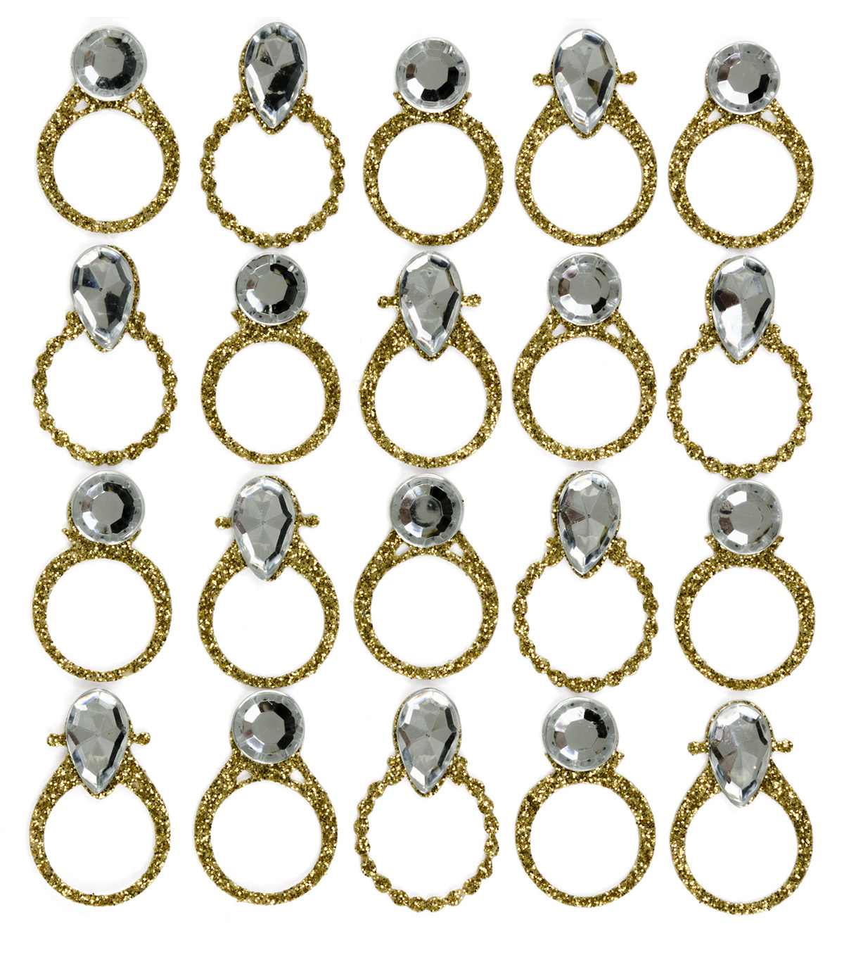 Jolee\u0027s Boutique® 4\u0027\u0027 x 4.25\u0027\u0027 Repeat Stickers-Gold Wedding Rings