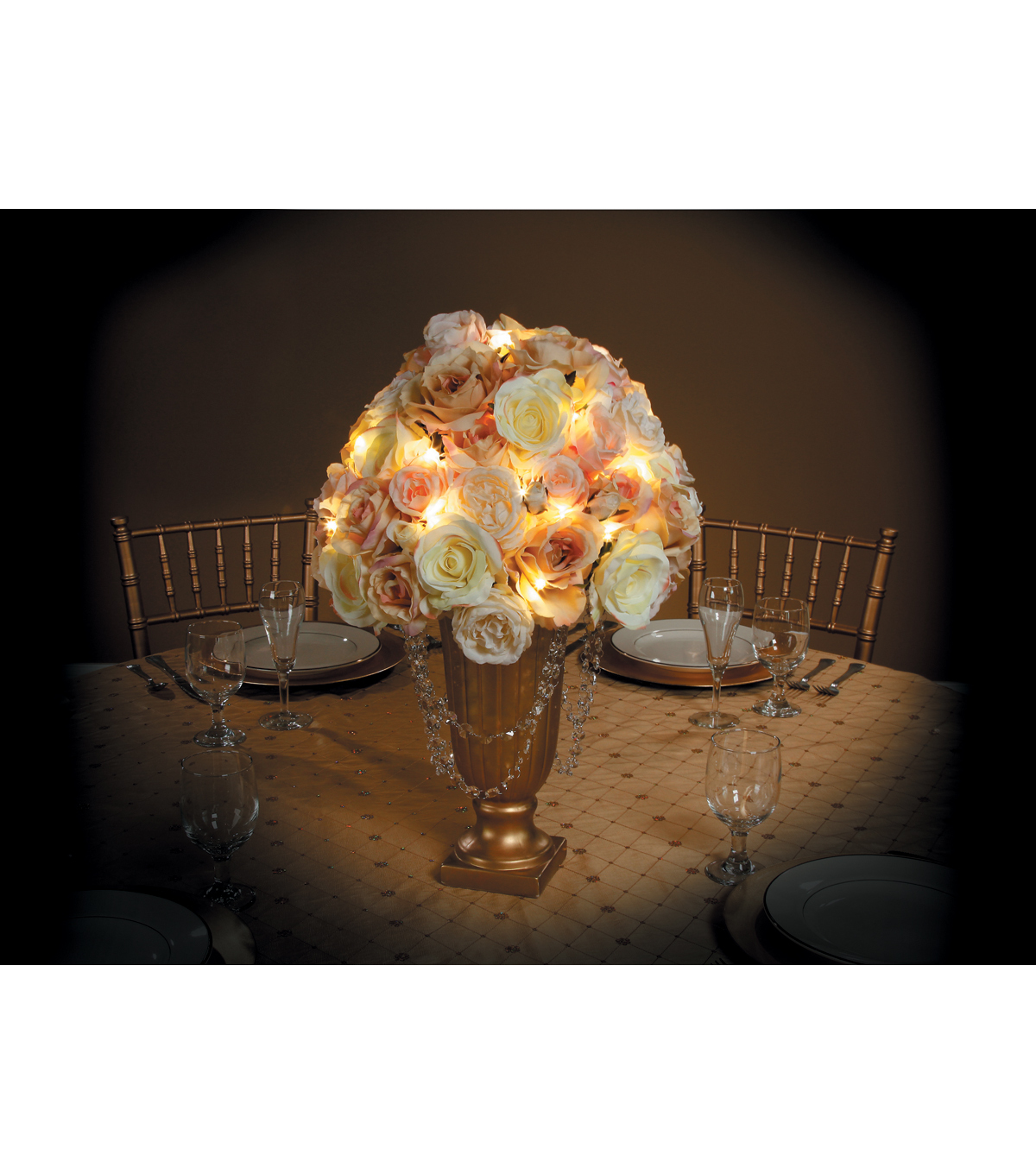 David Tutera Gold Wire Lights, 6.56 Ft.