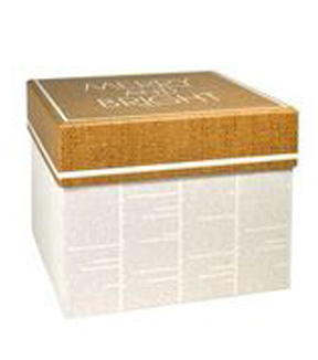 Maker's Holiday Large Square Box-Newspaper