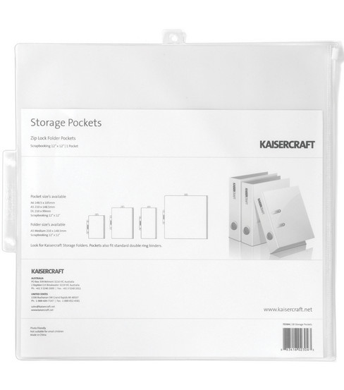 "Kaisercraft 12""x12"" Pack&Store Paper Storage Pocket"