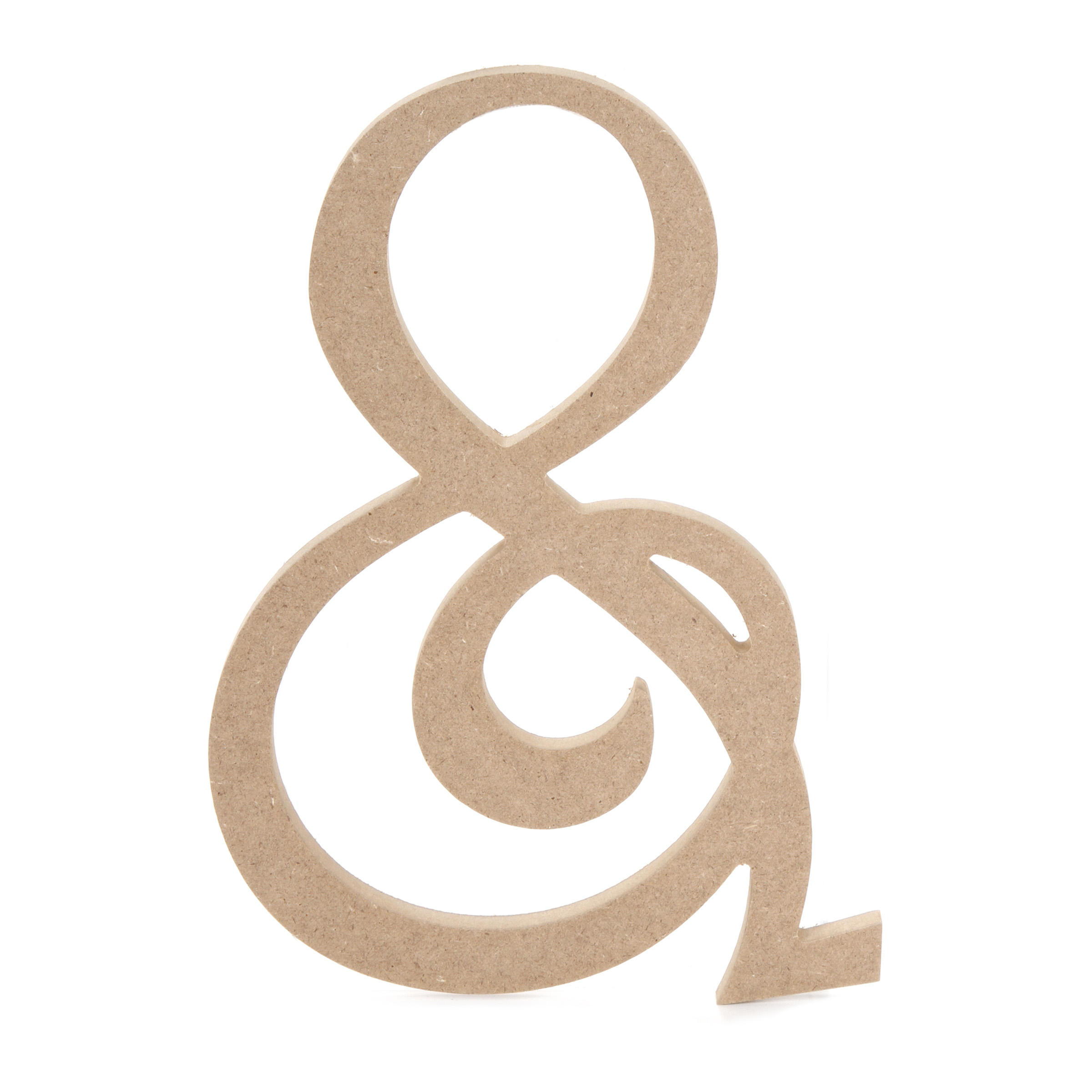 8 inch Fancy Script Wood Ampersand