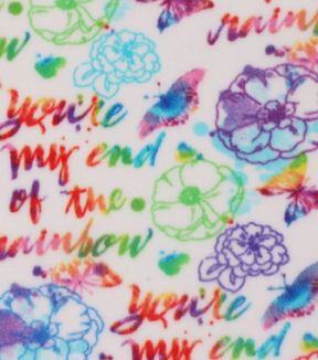 Anti-Pill Fleece Fabric 59\u0022-End Of Rainbow Watercolor