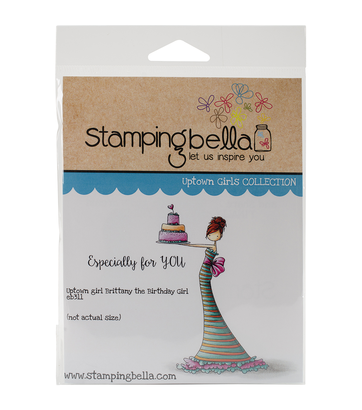 Stamping Bella Cling Rubber Stamp-Brittany The Birthday Girl