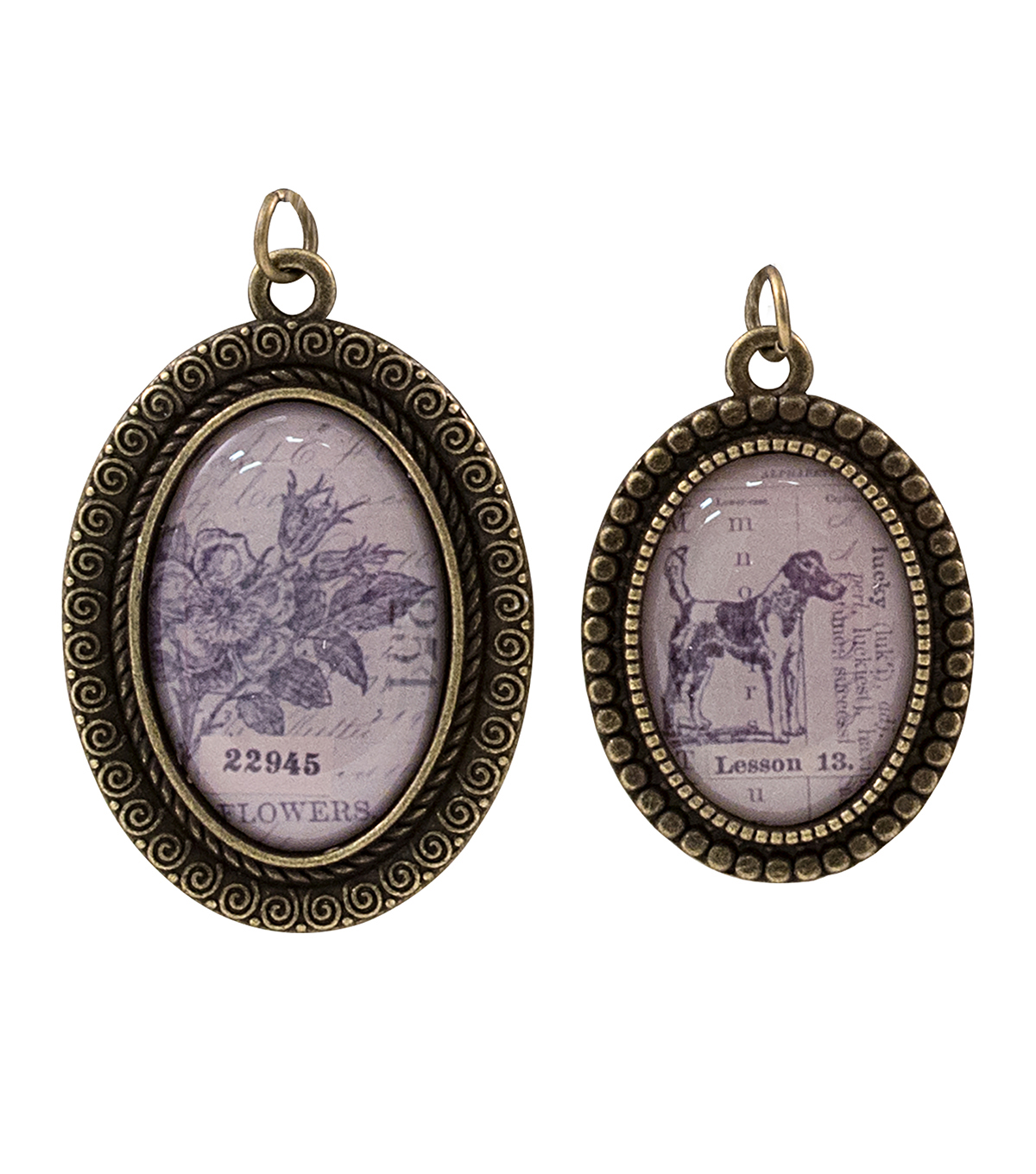 Tim Holtz® Assemblage Pack of 2 Brass Bezels Charms