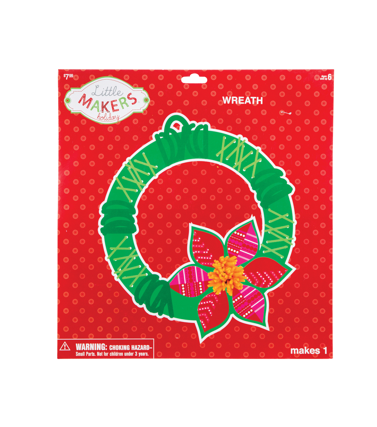 Little Makers™ Holiday Lacing Wreath Kit