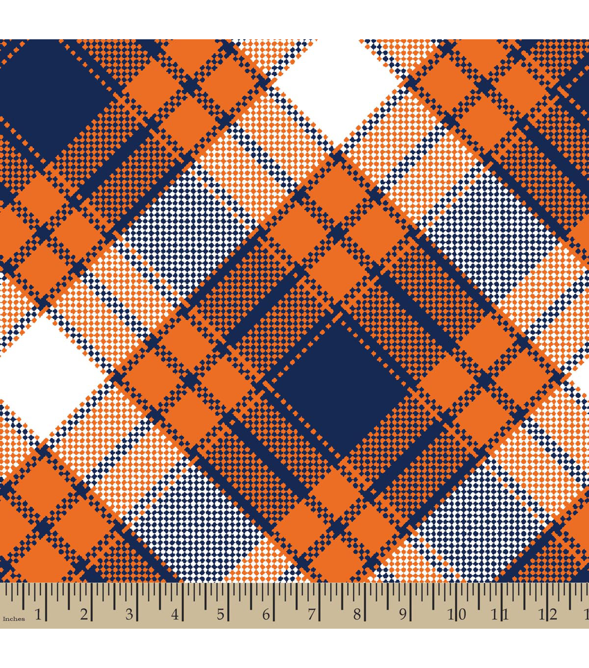 Blizzard Fleece Fabric 59\u0022-Annie Plaid Orange