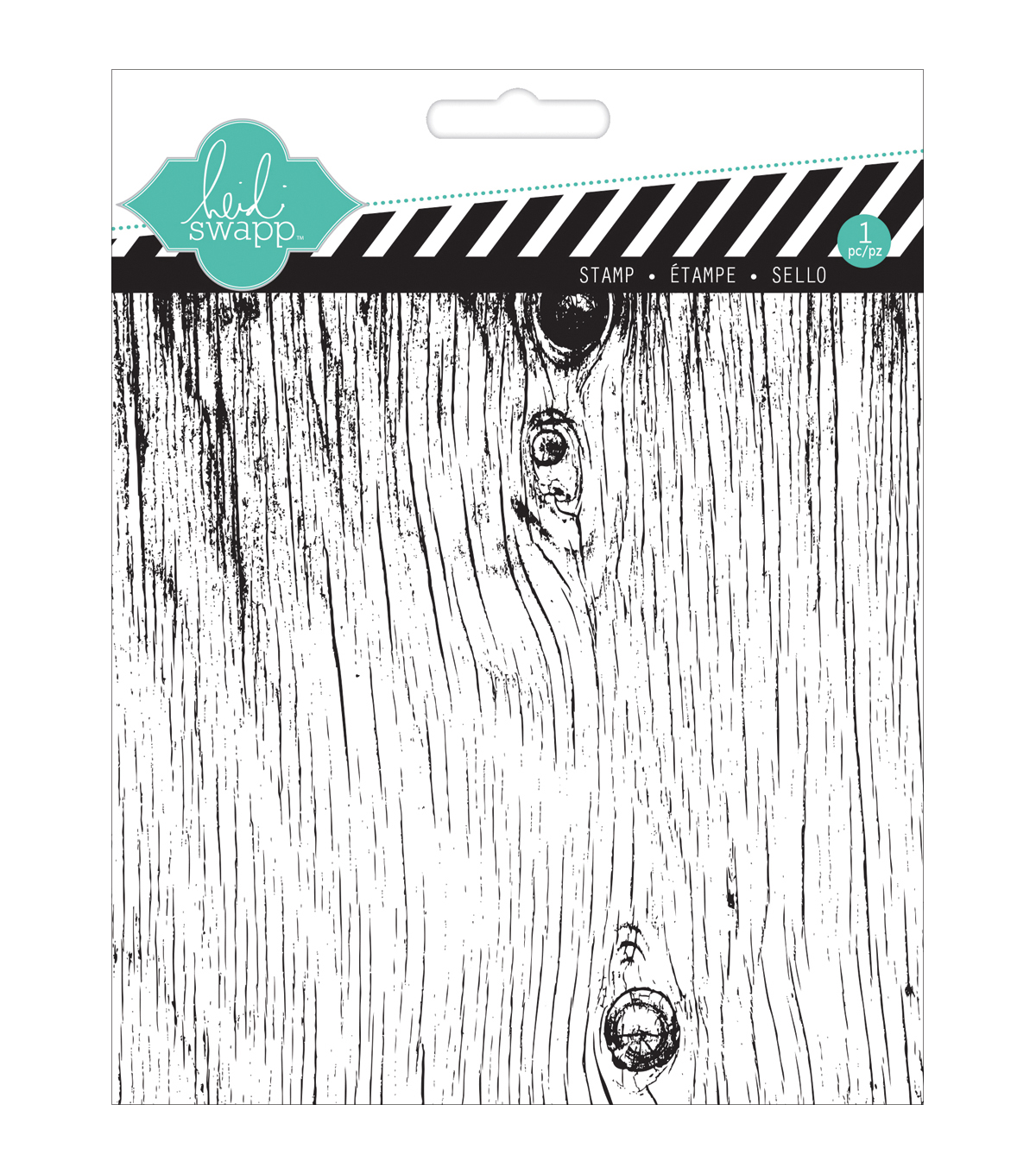 Heidi Swapp Mixed Media Clear Stamps 5.5\u0022X5.5\u0022-Woodgrain