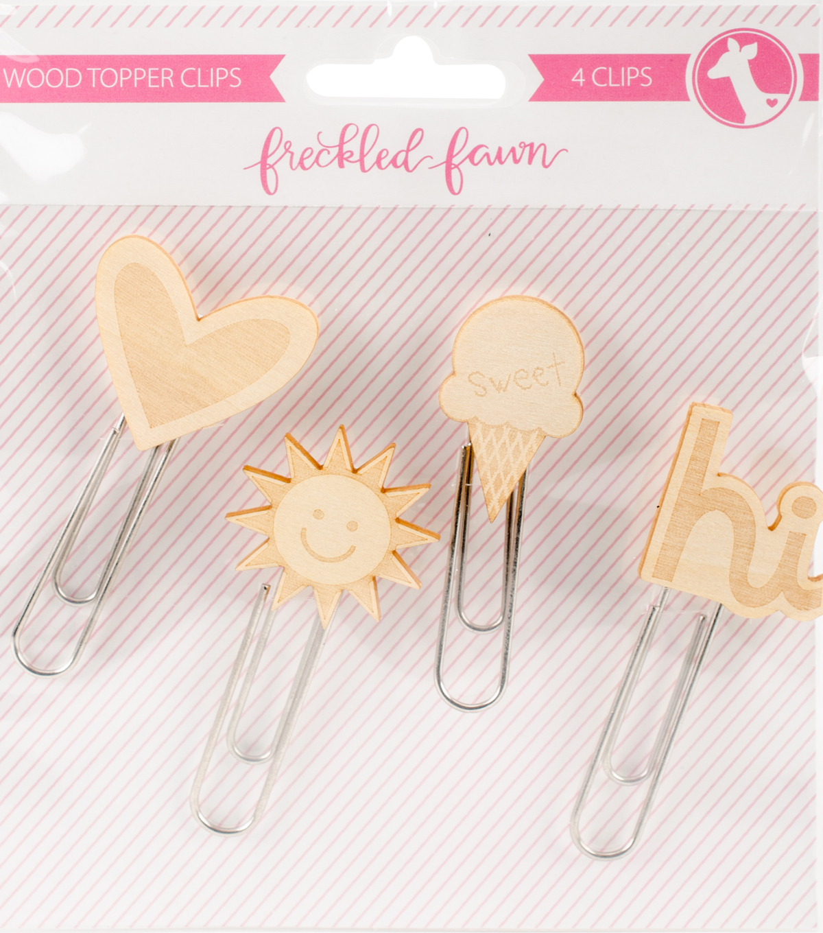 Freckled Fawn 4 pk Woodtopper Paper Clips