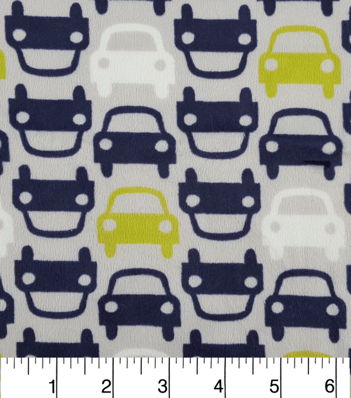 Soft N Comfy Fabric 57\u0022-Little Cars Navy_Lime