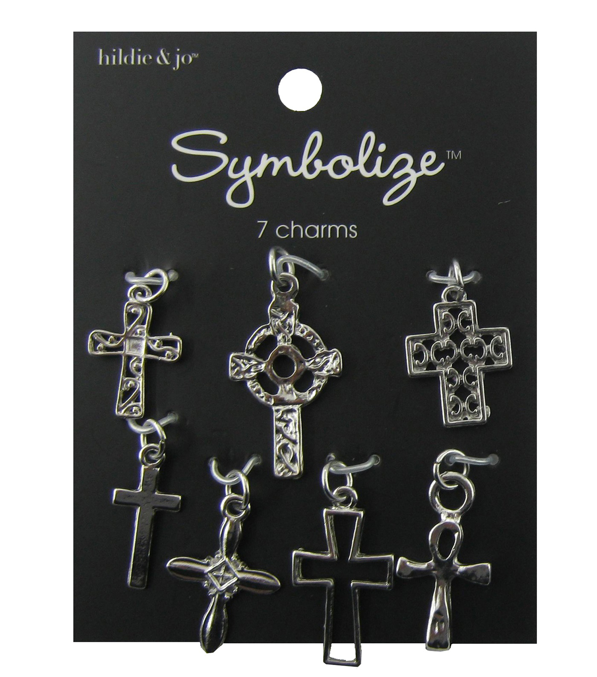 hildie & jo™ Symbolize 7 Pack Crosses Silver Charms