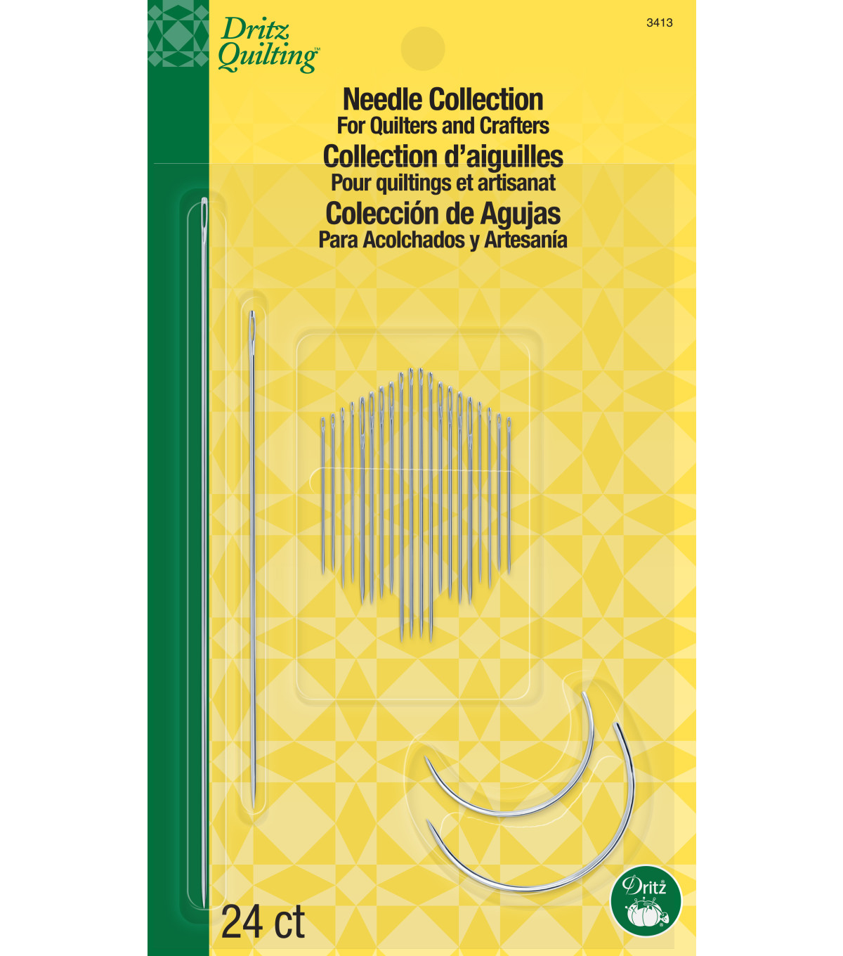 Dritz Quilting Assorted Needle Collection 24pcs