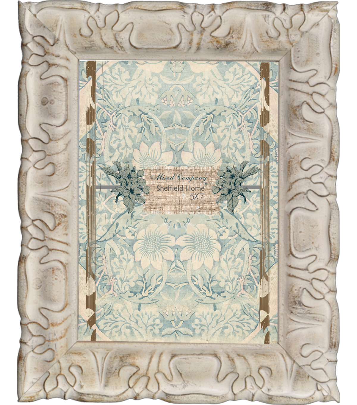 Mixed Company Distressed Frame 5x7-Ivory