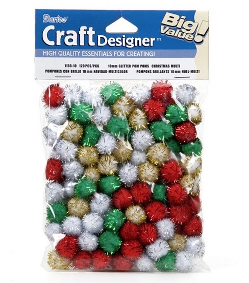 Best Value 10Mm Tinsel Pom Poms