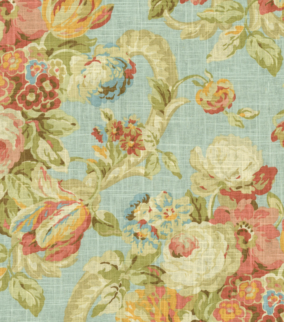 Waverly Print Fabric 54\u0022-Spring Bling/Cir/Vapor