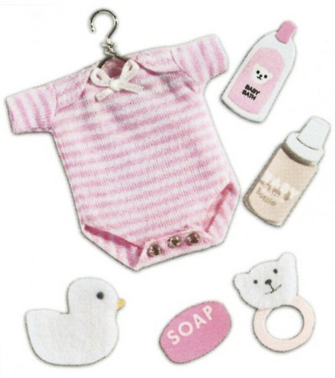 Jolee\u0027s Boutique Dimensional Stickers-Baby Girl Outfit
