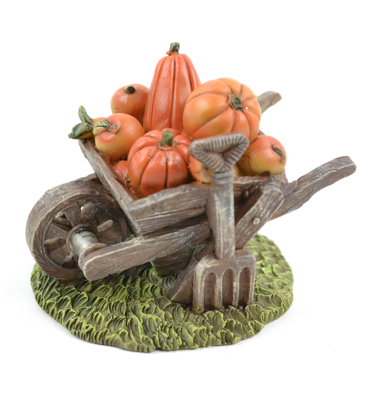 Fall Into Color Littles 2.5\u0027\u0027 Pumpkin Wheelbarrow