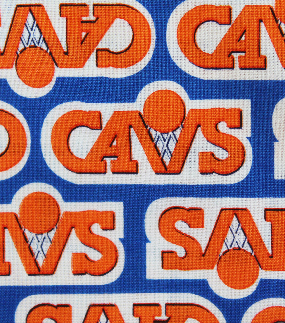Cleveland Cavaliers Knit Fabric 58\u0022-Vintage Logo