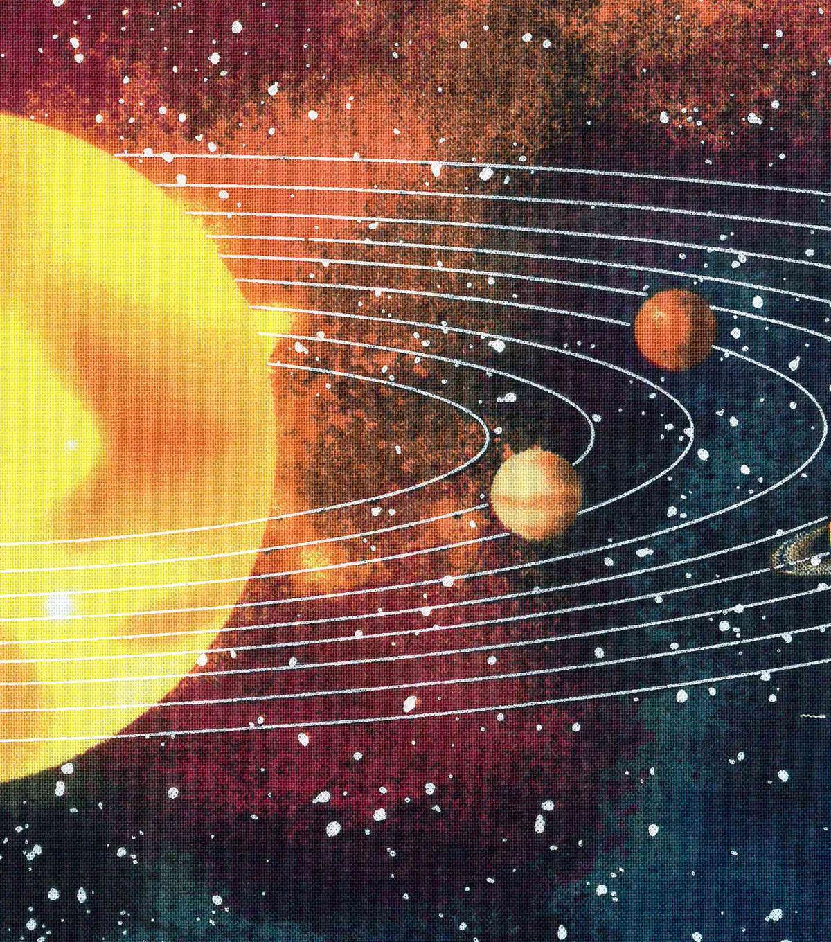 Novelty Cotton Fabric 43''-Solar System