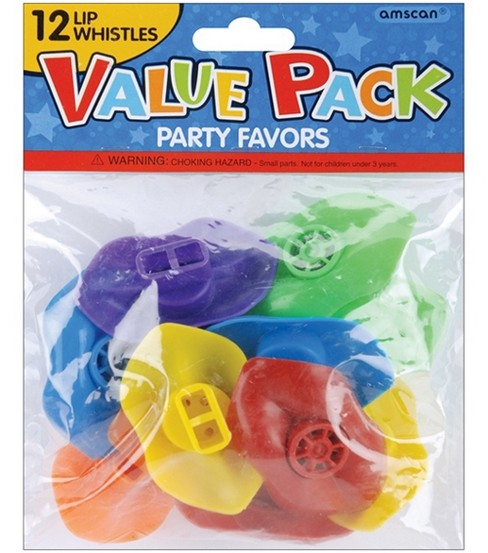 Party Favors 12/Pkg-Lip Whistles