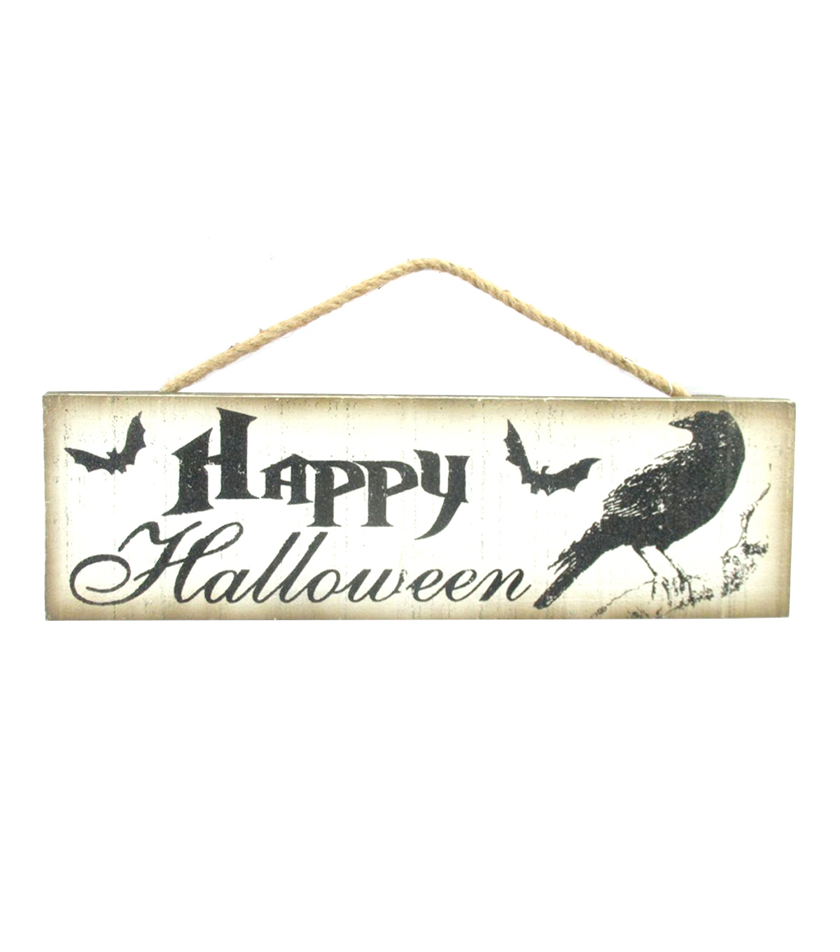 Maker's Halloween Wood Wall Decor-Happy Halloween Crow & Bat