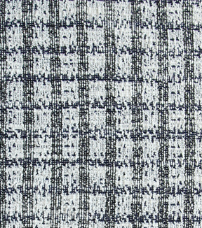 Boucle Knits Fabric 61\u0027\u0027-Navy Plaid