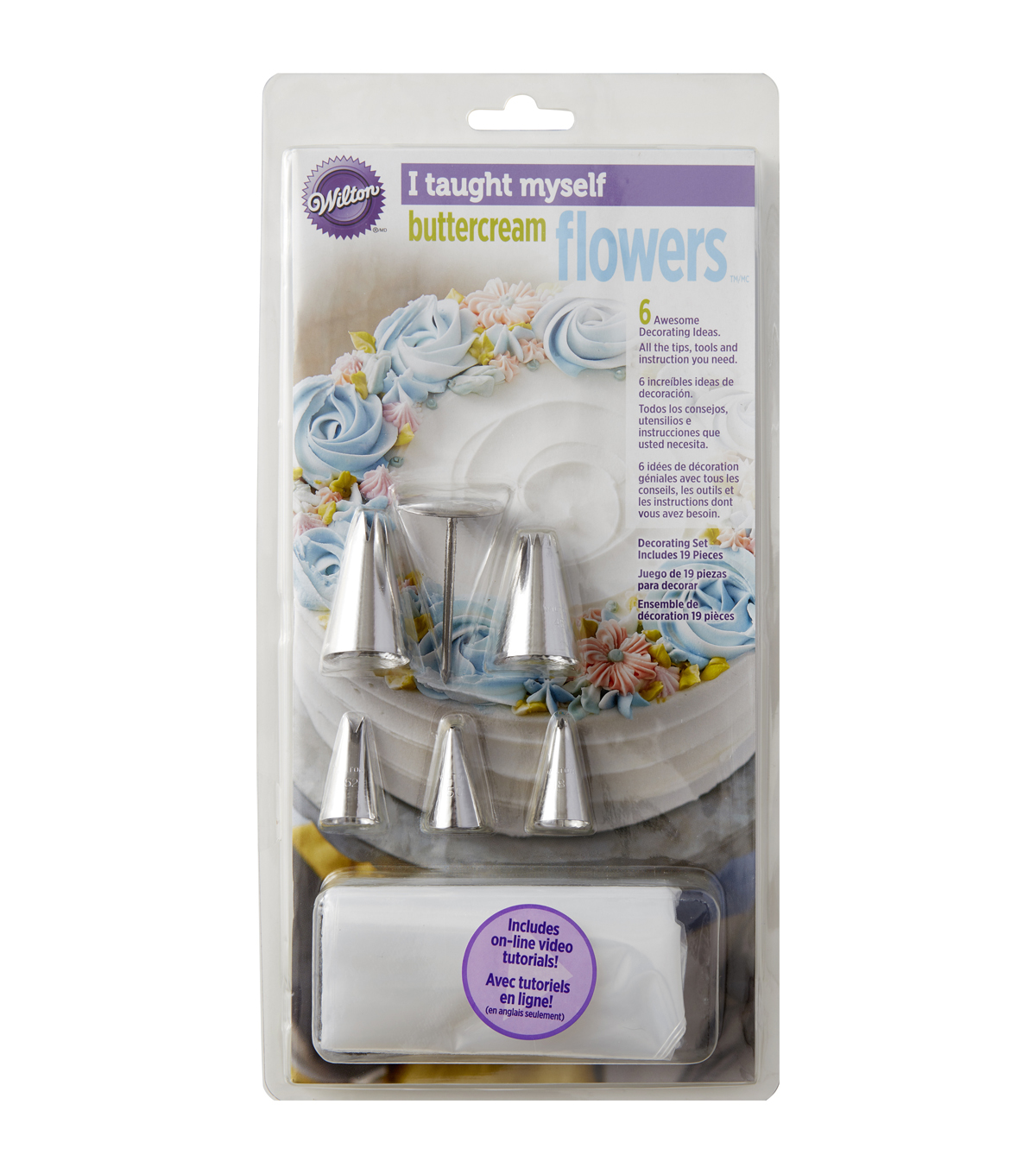 Wilton® I Taught Myself Buttercream Flowers Decorating Book Set