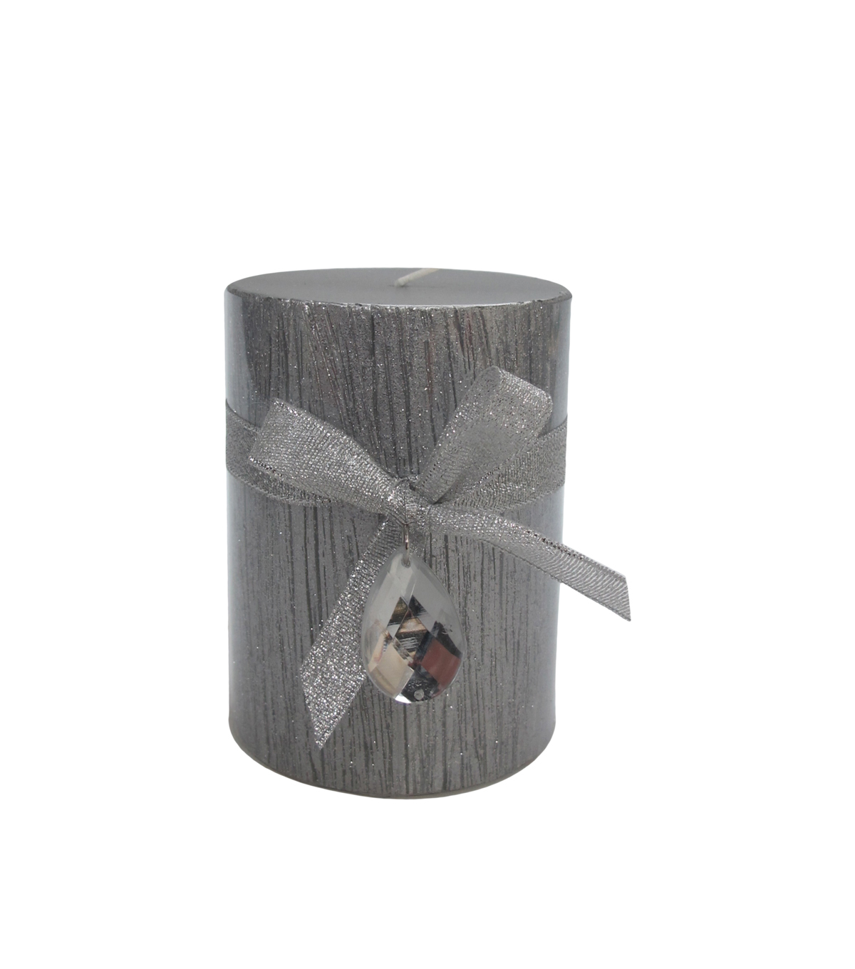 Sparkling Woodland 3X4 Silver Birch Pillar Candle