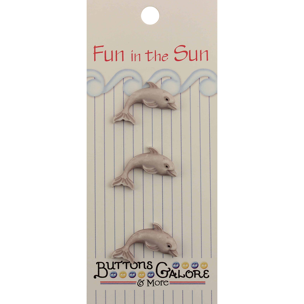 Fun In The Sun Buttons-Dolphin