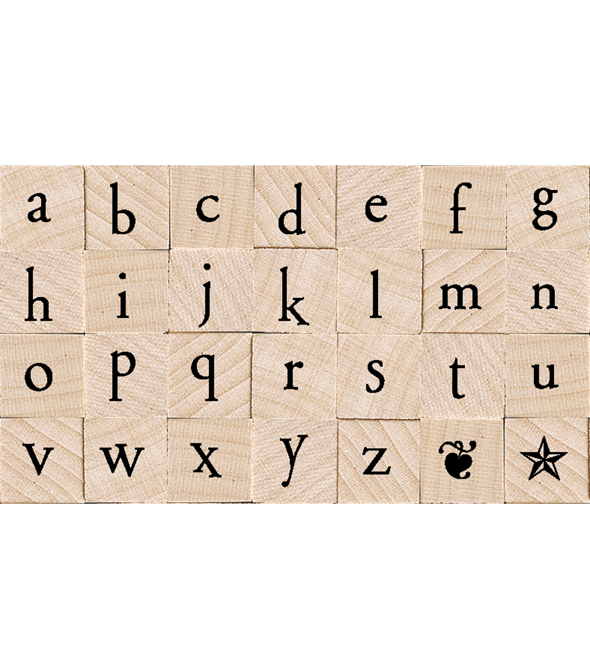 Hero Arts Mounted Rubber Stamp Set-Printer\u0027s Type Lowercase