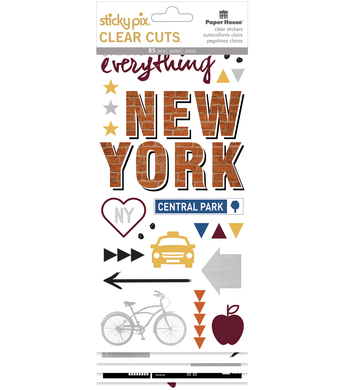 Paper House® Sticky Pix Clear Cuts Pack of 85 Sticker-New York City