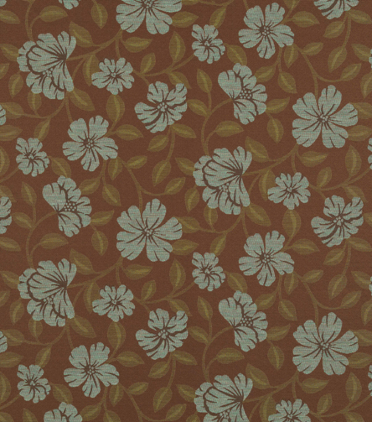 Home Decor Upholstery Fabric-Crypton Hibiscus Bloom-Teal Blue