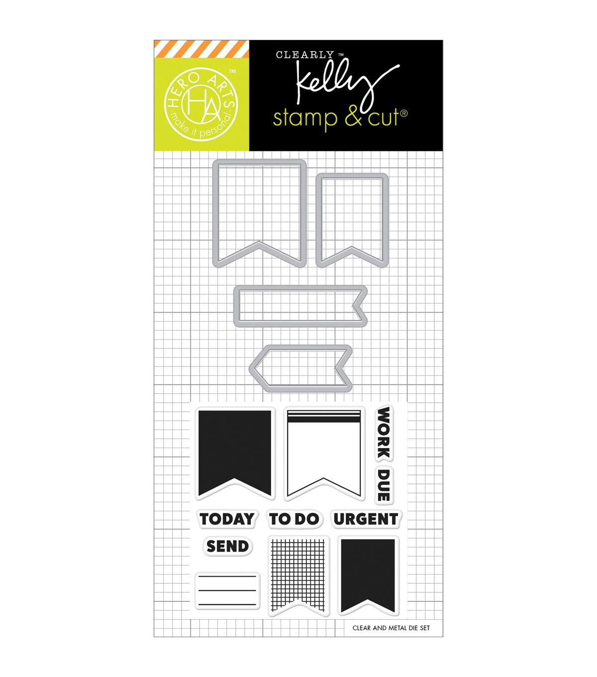 Hero Arts® Kelly Purkey Stamp & Cut-Planner Banners