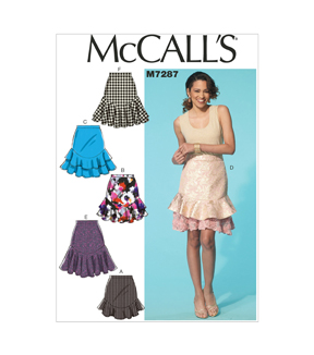 Mccall Pattern M7287-E50-Misses' Skirts-14-16-18-20-22