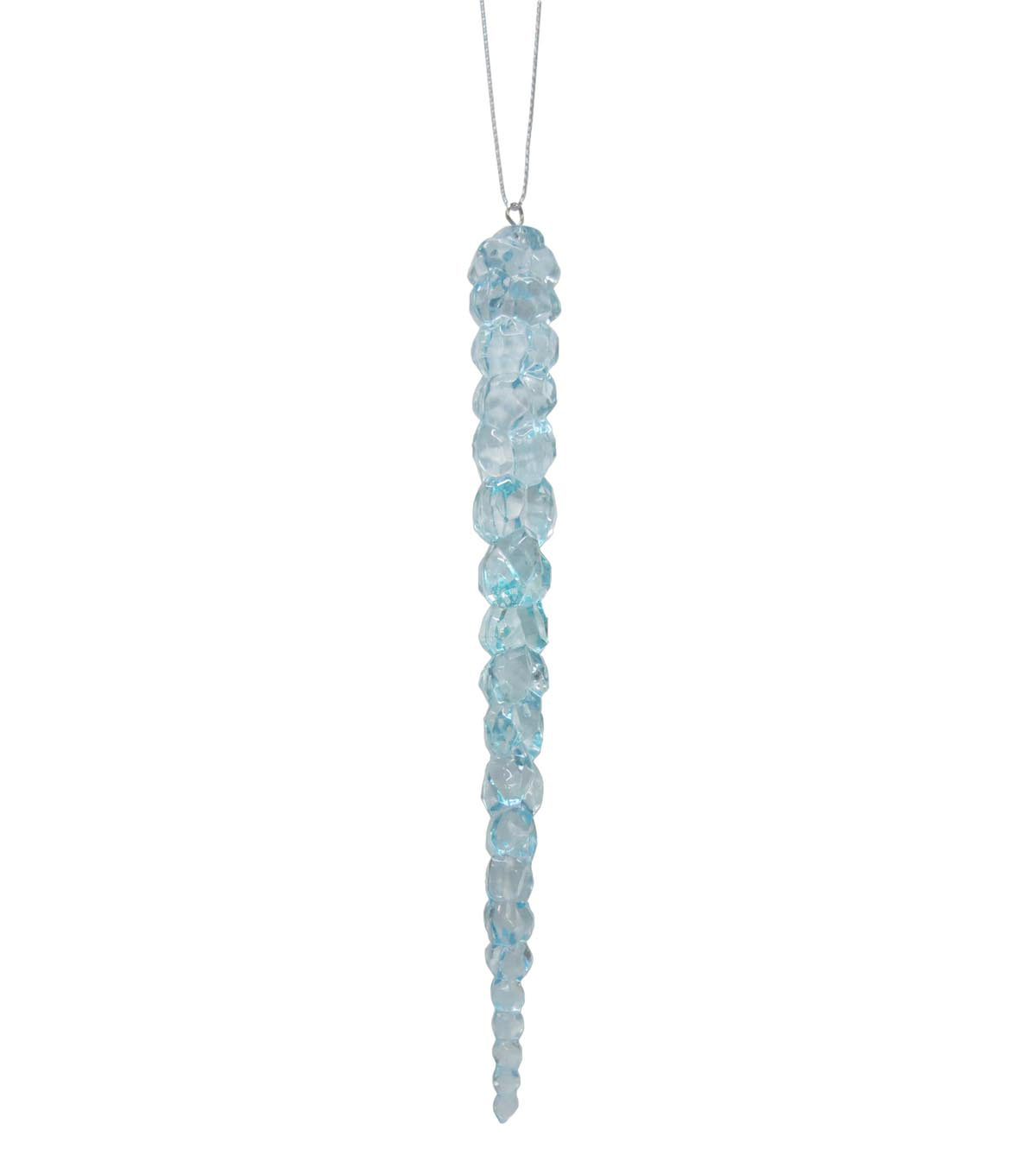 Maker's Holiday Christmas Arctic Frost Icicle Ornament-Blue