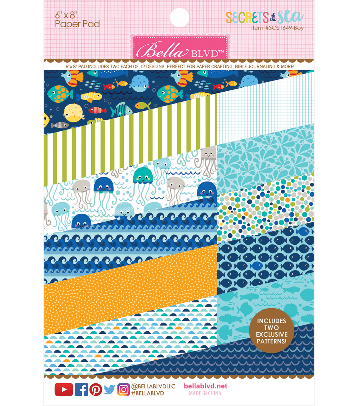 "Bella Blvd Paper Pad 6""X8""-Secrets Of The Sea-Boy"