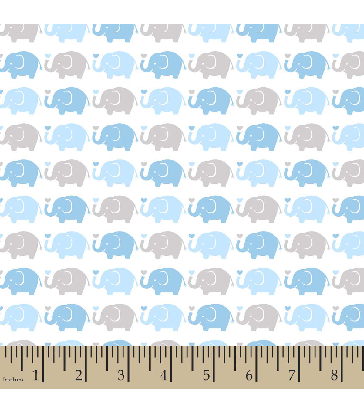 "Snuggle Flannel Fabric 42""-Elephant Parade Blue"
