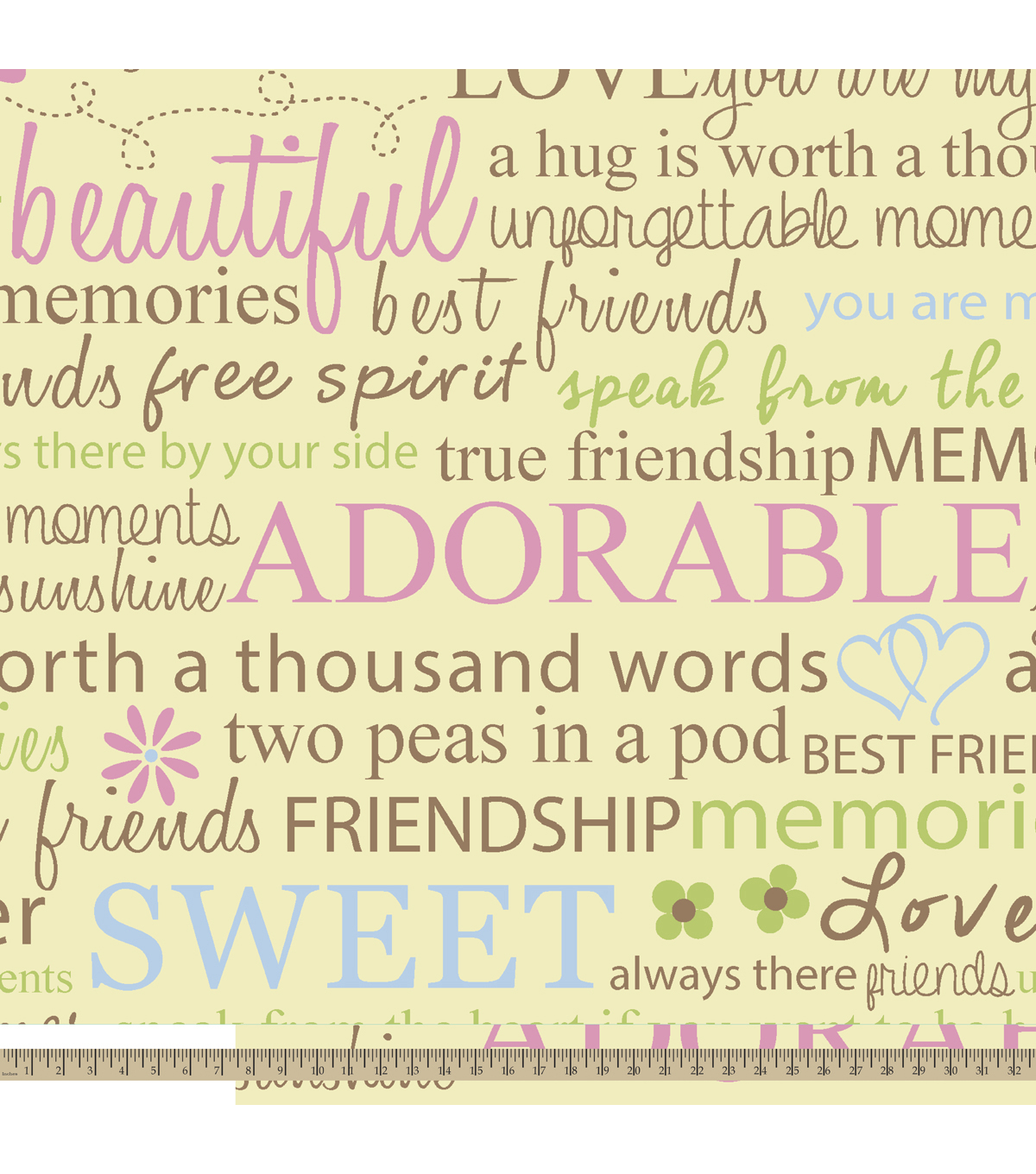 """Quotes About Friendship Memories Antipill Fleece Fabric 59""""friendship Quotes  Joann"""