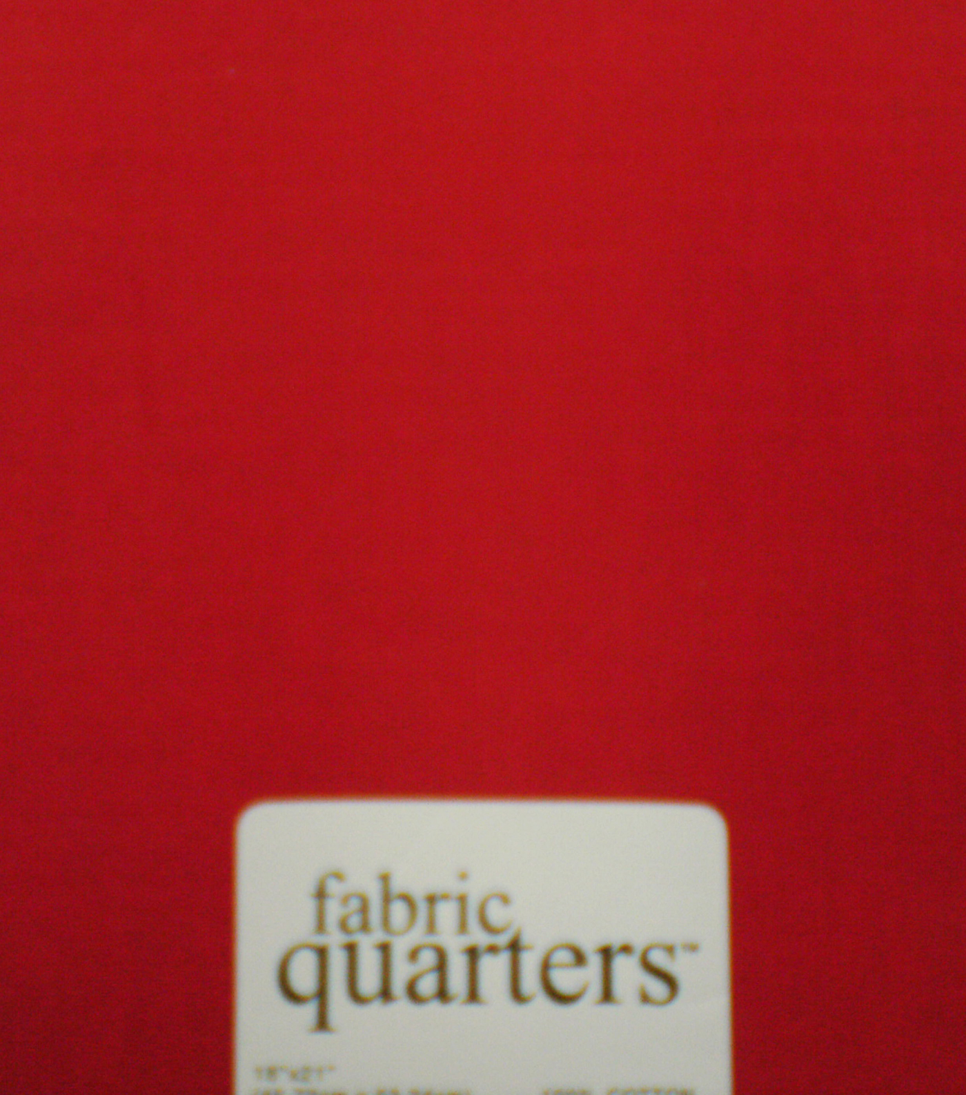 Fabric-Quarters Cotton Fabric-Solids Red