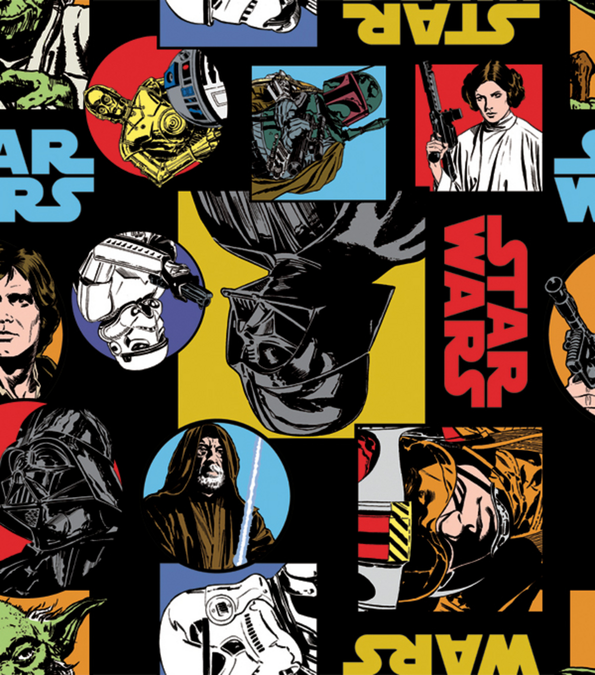 "Star Wars™ Fleece Fabric 58""-Cartoon Characters"