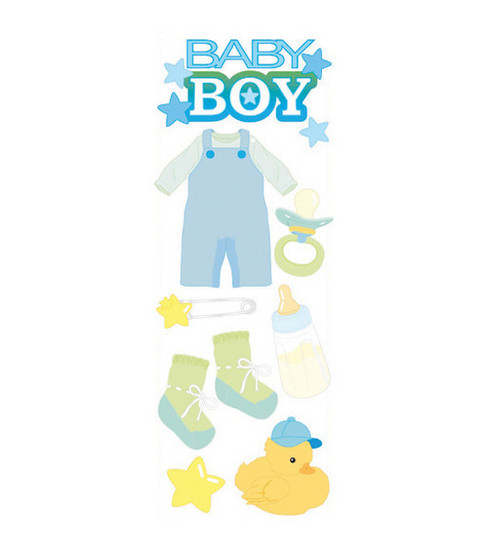 Touch Of Jolee's Dimensional Sticker-Baby Boy