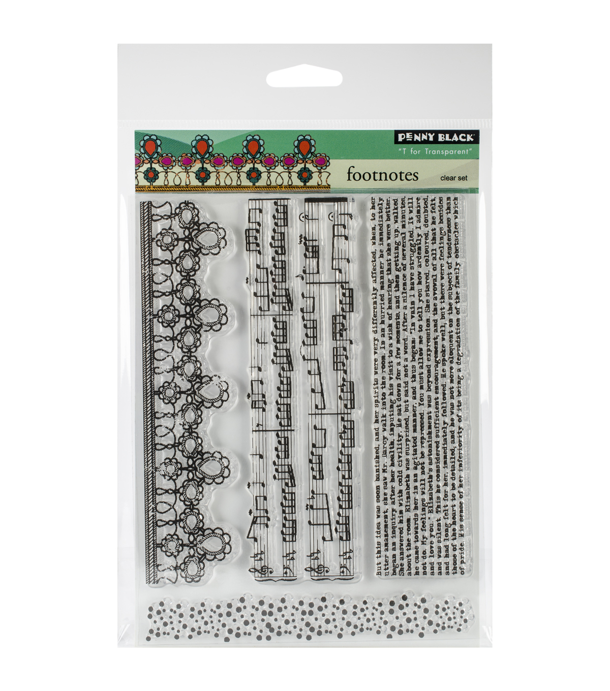Penny Black Clear Stamps 5\u0022X6.5\u0022 Sheet-Footnotes