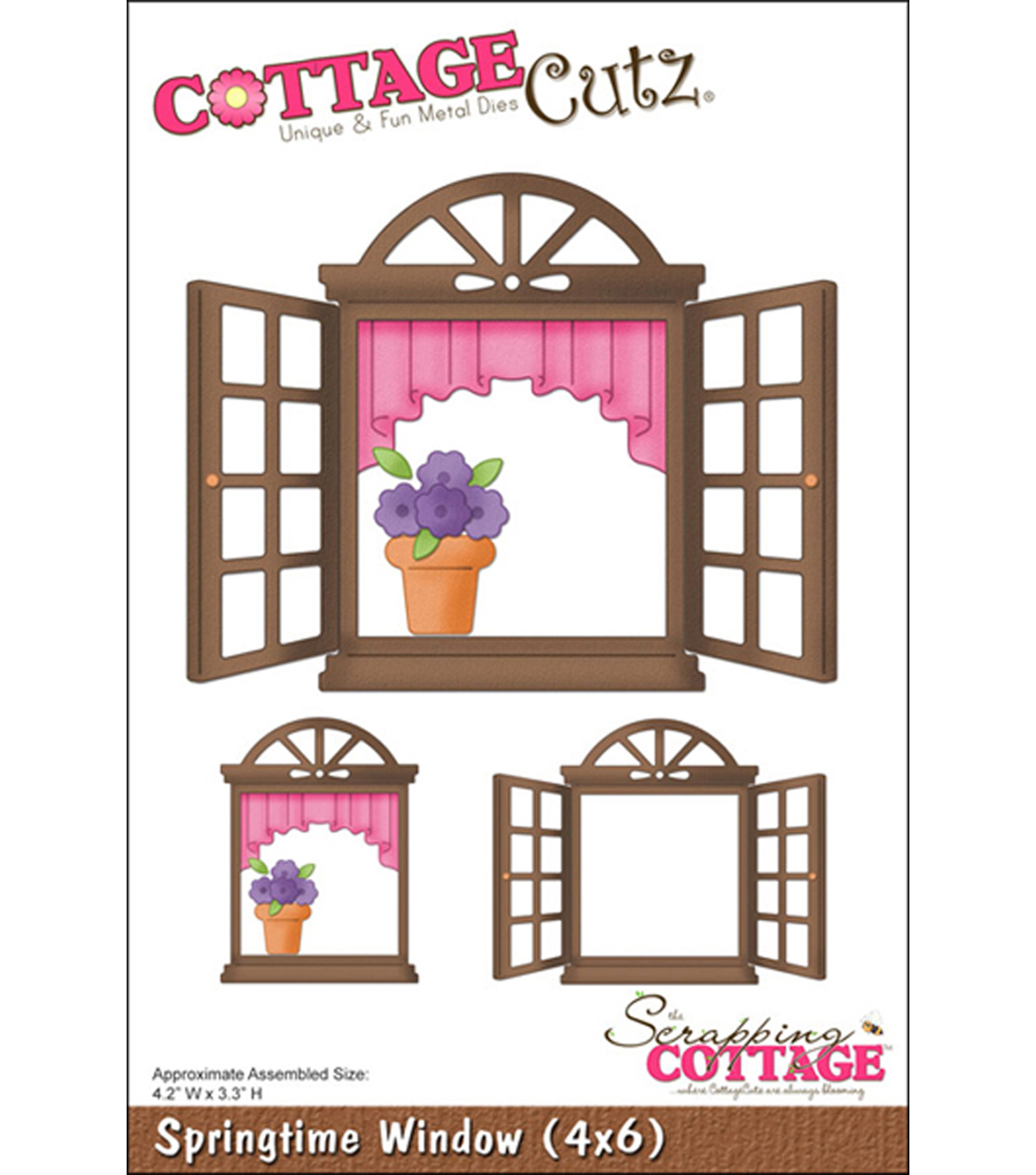 CottageCutz Die-Springtime Window 4.2\u0022X3.3\u0022