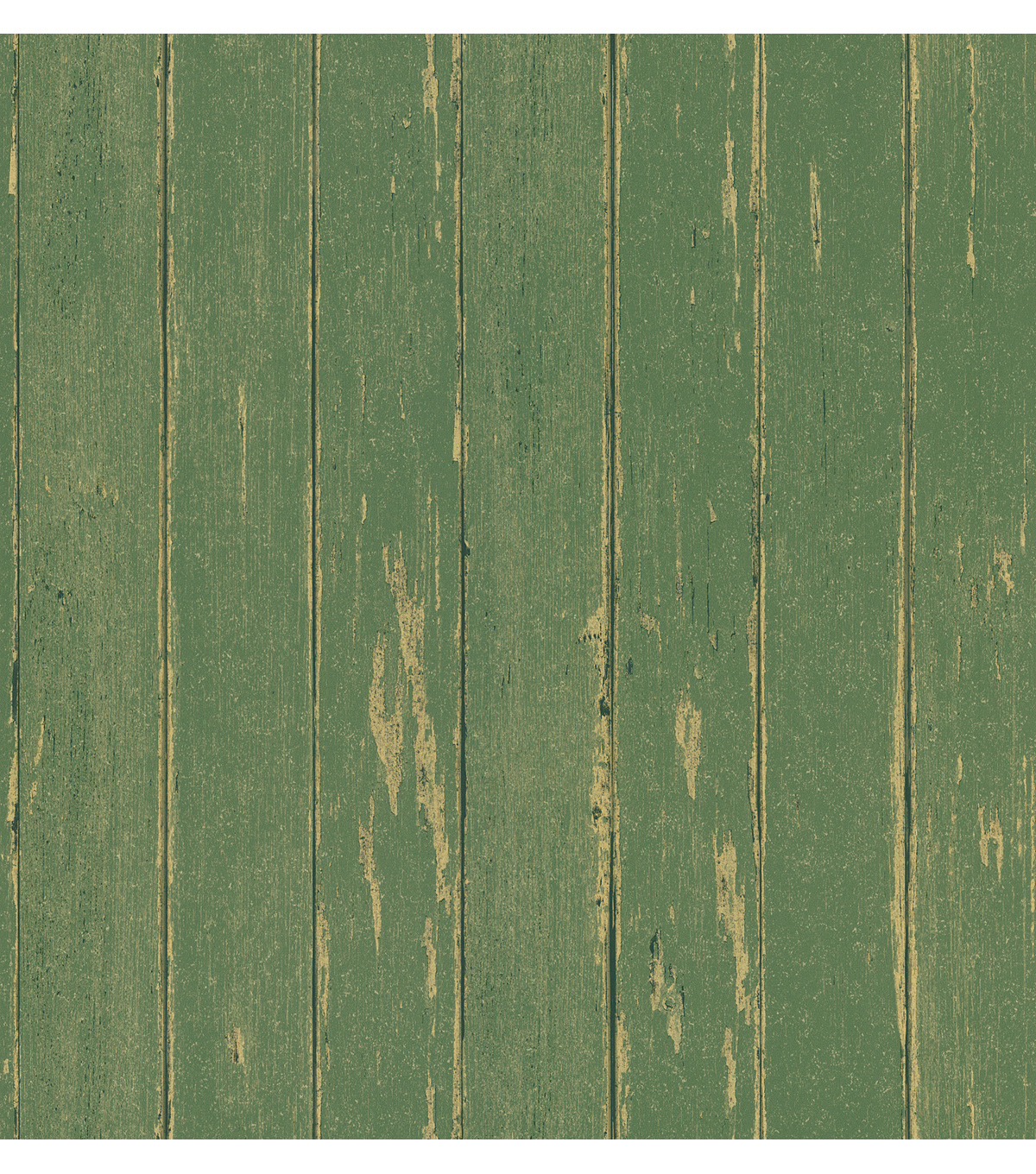 Yarmouth Green Rustic Wood Paneling Wallpaper