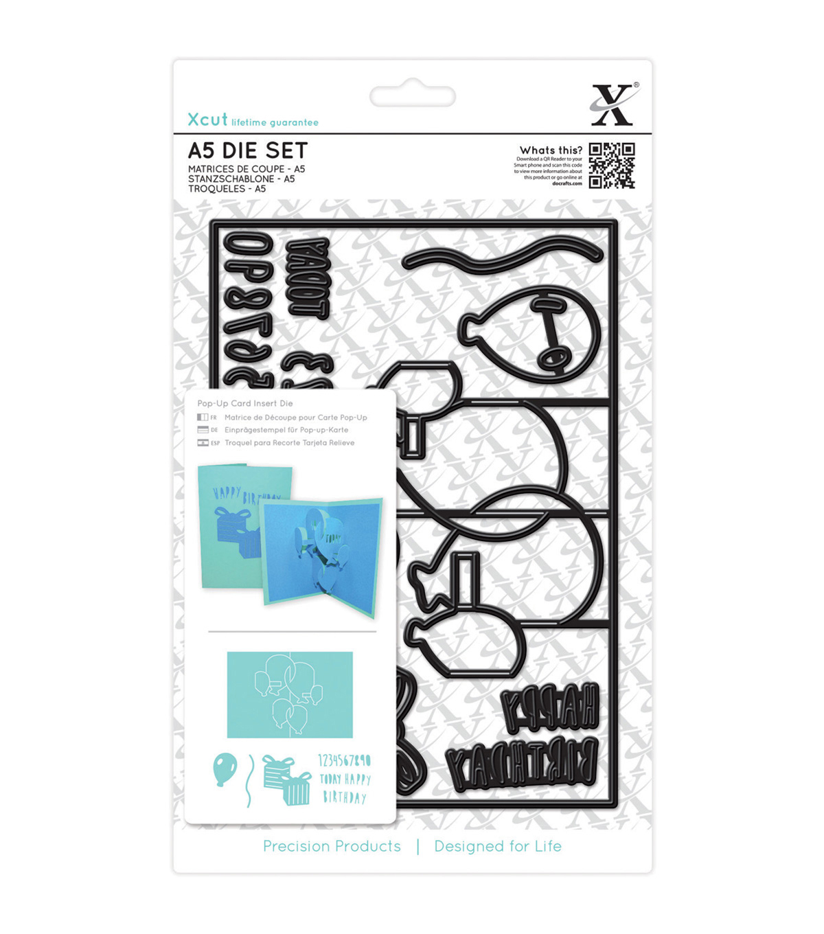 Xcut A5 Pop-Up Die Set-Birthday Card