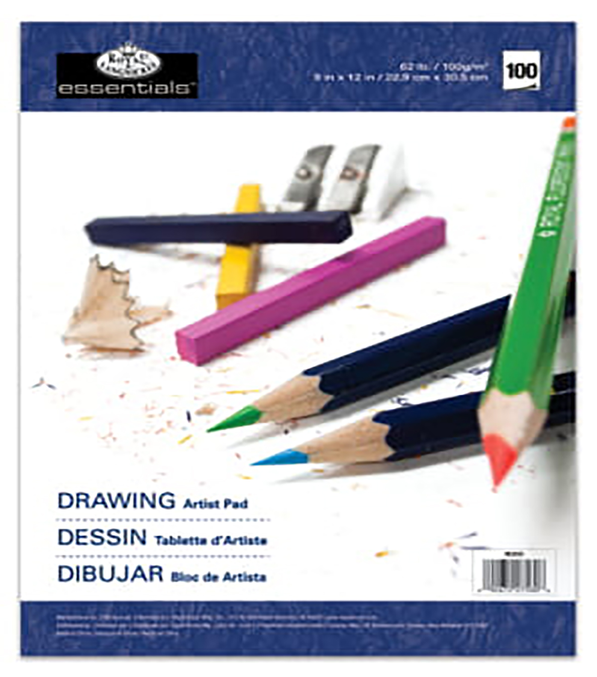 "Essentials Drawing Artist Paper Pad 9""X12""-100 Sheets"