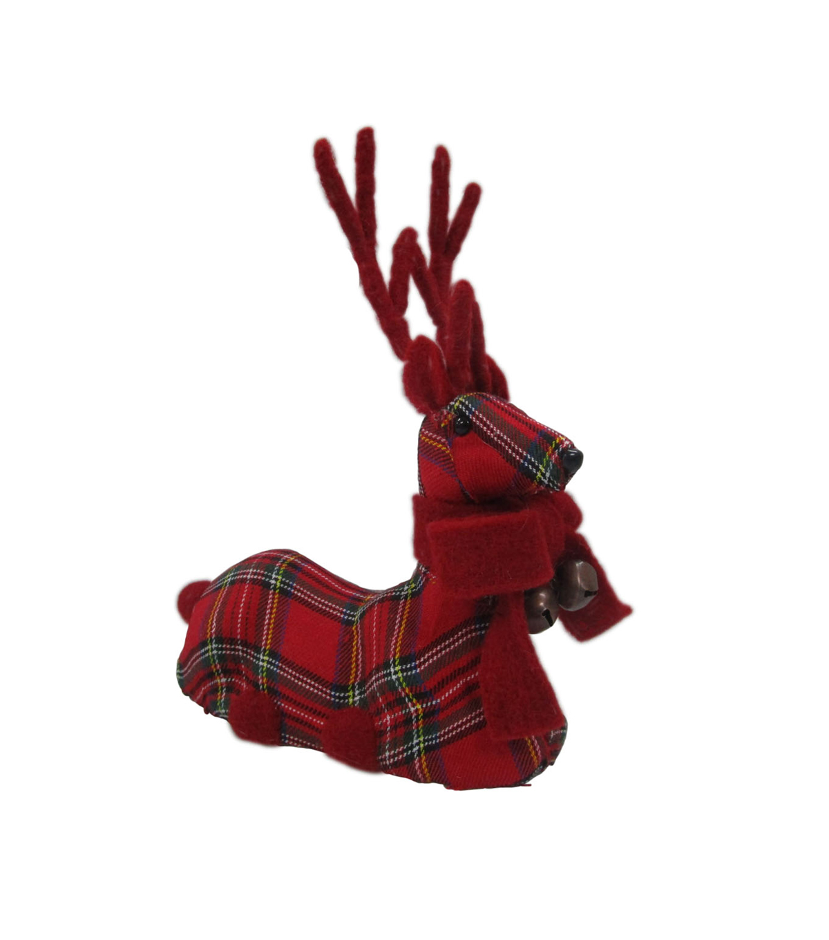 Maker\u0027s Holiday Sitting Deer-Plaid