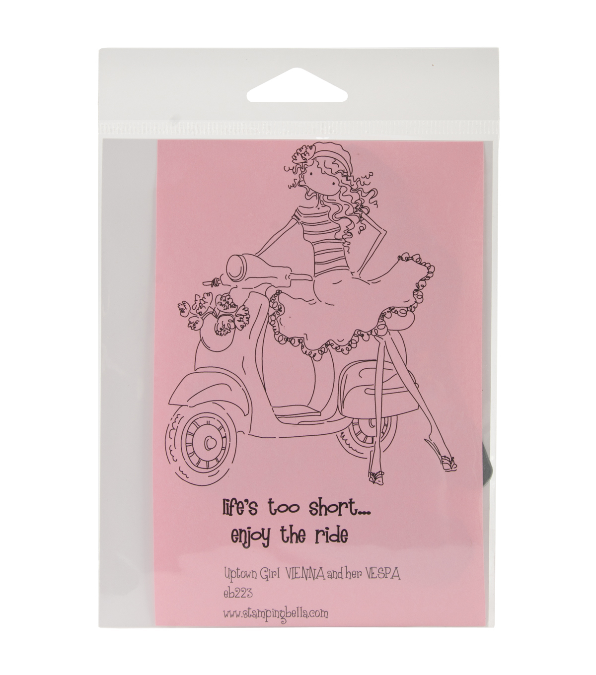 Stamping Bella Unmounted Rubber Stamp-Uptown Girl Vienna And Her Vespa