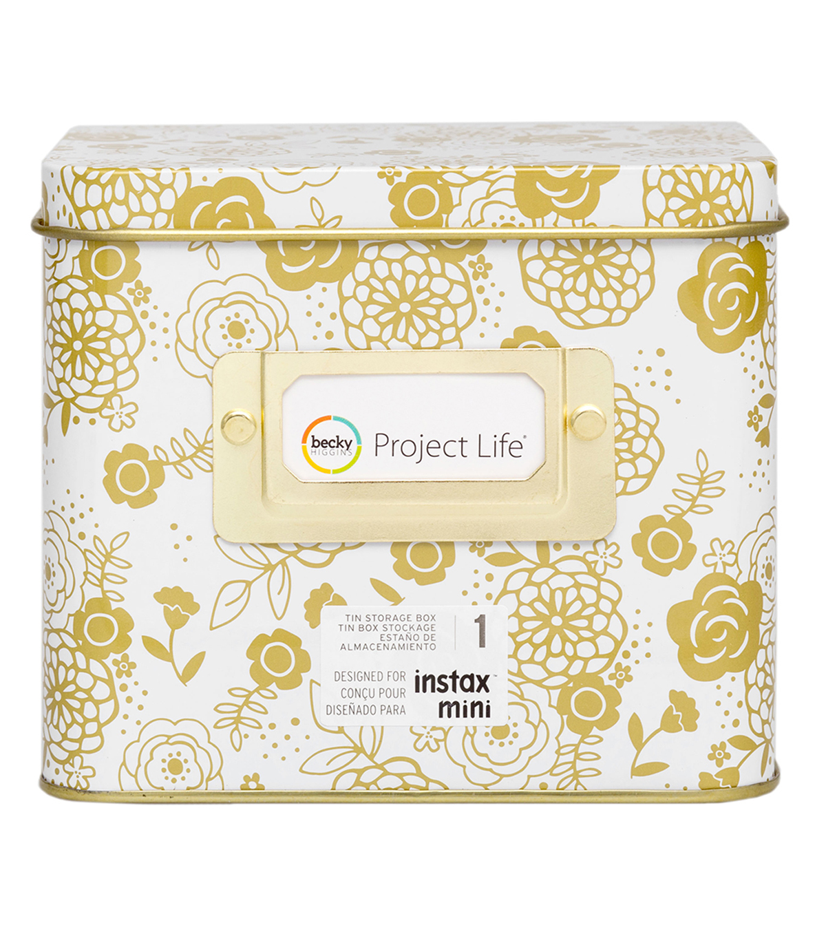 Project Life Tin Storage-Floral
